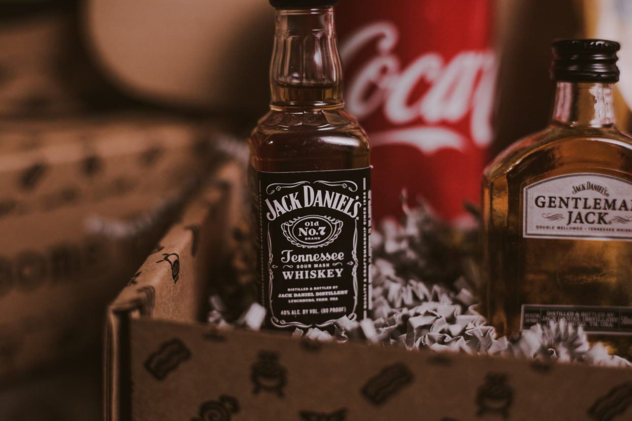 The BroBasket - Gifts for Men - Jack Daniels Gift - Gentleman Jack Gifts - Jack Daniels Tennessee Honey Gifts - Jack Daniels Single Barrel Gifts - Whiskey Gifts