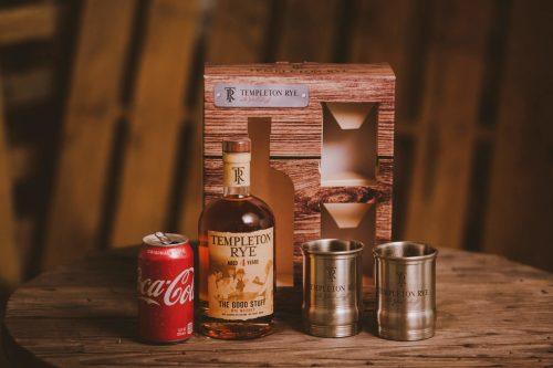 The BroBasket - Gift Baskets For Men - Templeton Rye Gift Set - Whiskey Gifts - Whiskey Gift Baskets
