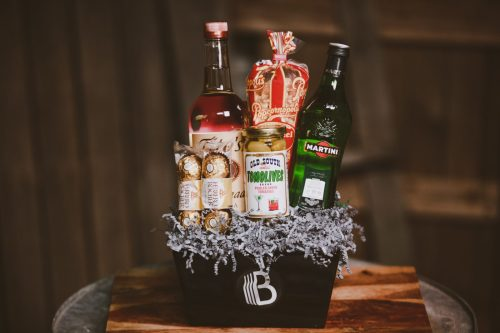 The BroBasket - Gift Baskets for men - vodka martini gift basket - titos gift - titos vodka gift