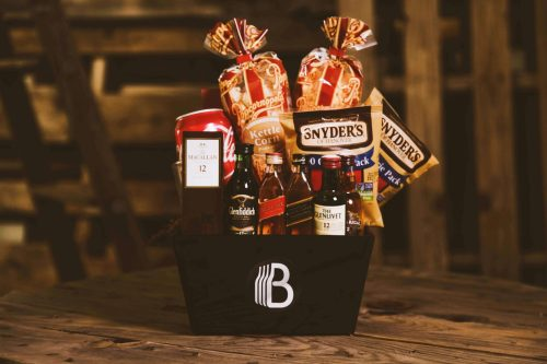 The BroBasket - Gift Baskets For Men - Macallan Gifts - Glenfiddich Gifts - Johnnie Walker Gifts - Glenlivet Gifts - Chivas Regal Gifts - Scotch Gifts - Whiskey Gifts - Whiskey Gift Baskets