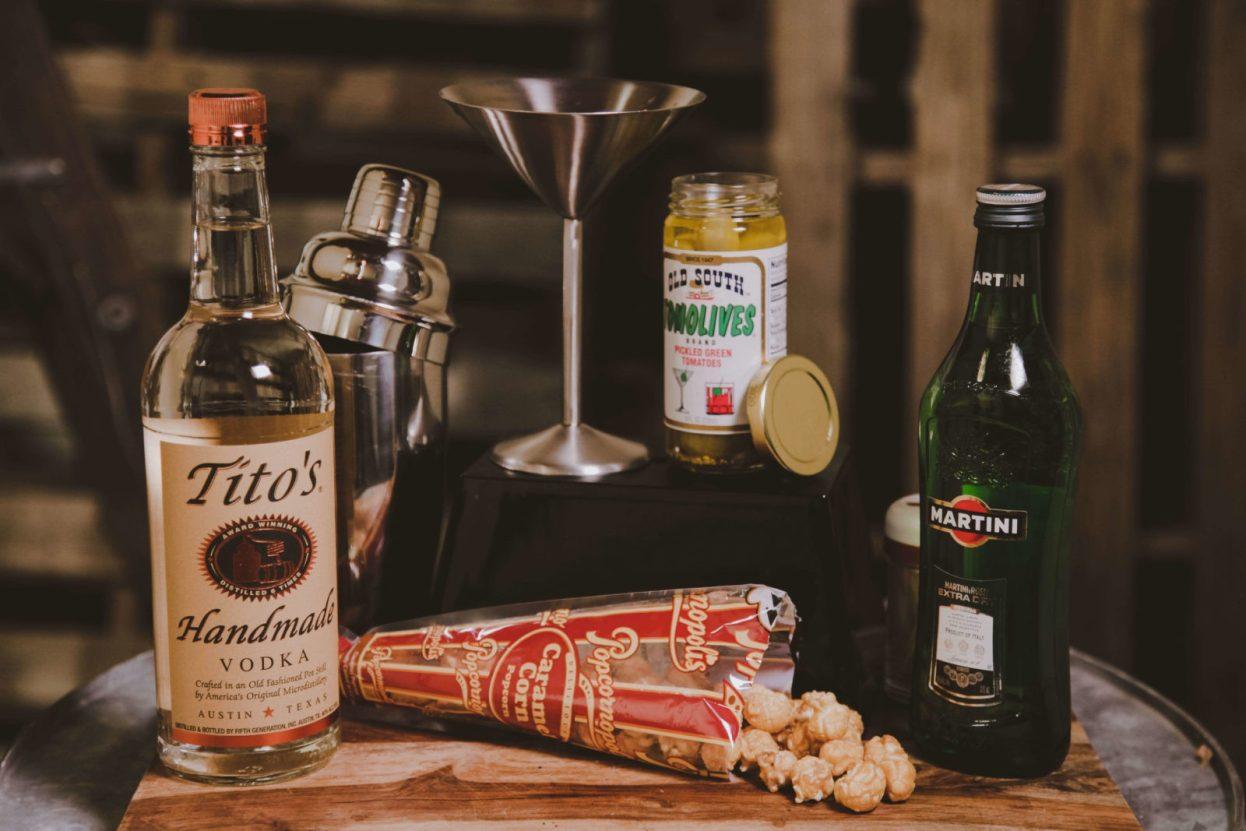 The BroBasket - Gift Baskets for men - vodka martini gift basket - titos gift - titos vodka gift