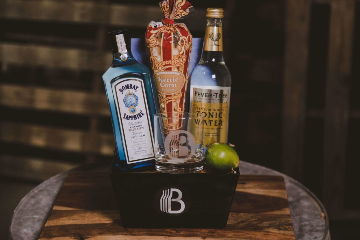 The BroBasket - Gift Baskets for Men - Gin Gifts - Bombay Sapphire Gifts - Gin and Tonic Gift