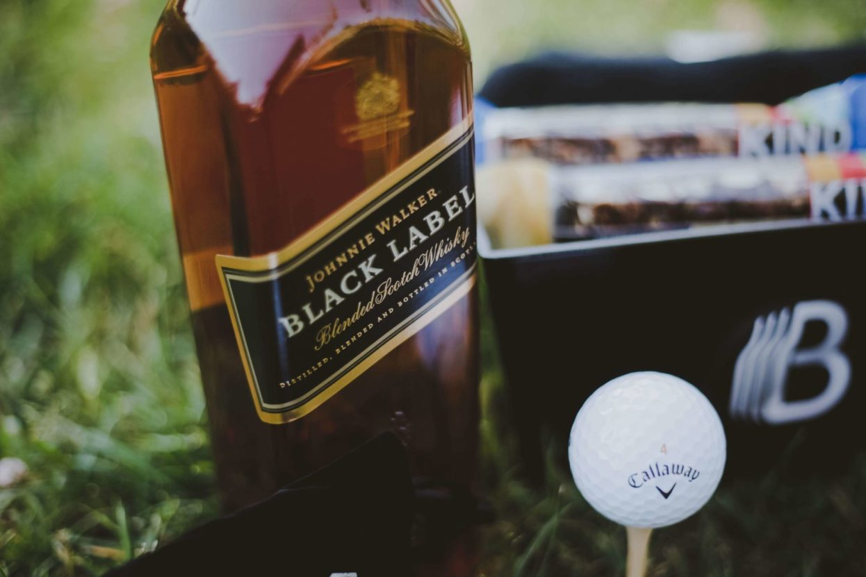 The BroBasket - Gift Baskets for Men - Gifts for men - Johnnie Walker Black Label Gifts - Scotch Gifts - Golf Gifts