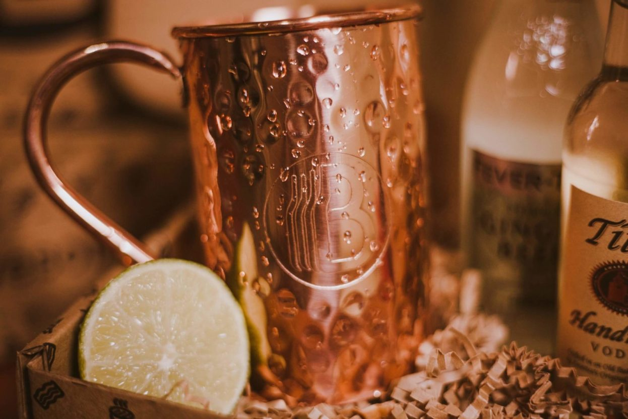 The BroBasket - Gift Baskets for men - moscow mule gift basket - titos gift - titos vodka gift - copper mug