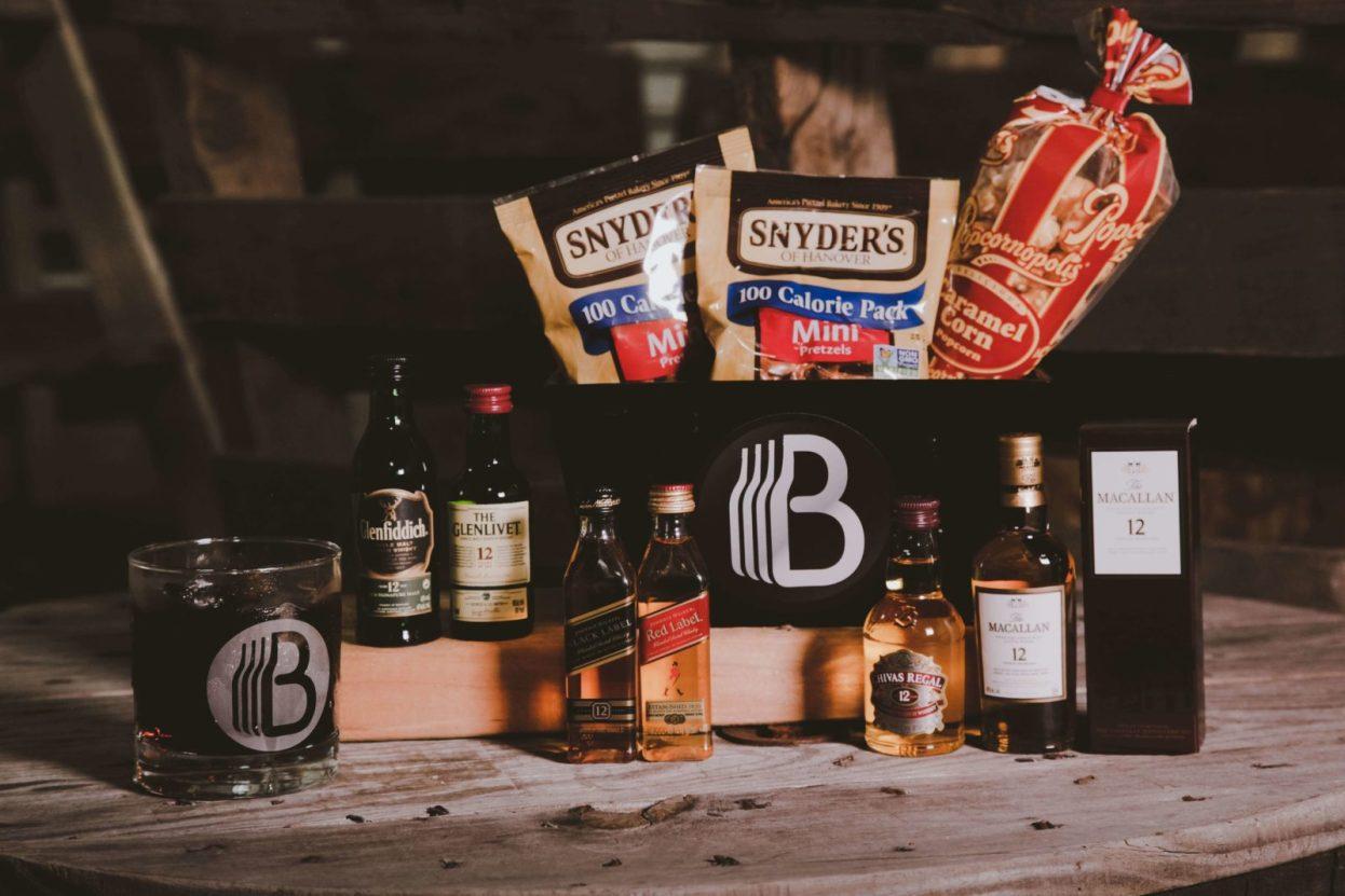 The BroBasket - Gift Baskets For Men - Macallan Gifts - Glenfiddich Gifts - Johnnie Walker Gifts - Glenlivet Gifts - Chivas Regal Gifts - Scotch Gifts - Whiskey Gifts - Whiskey Gift Baskets