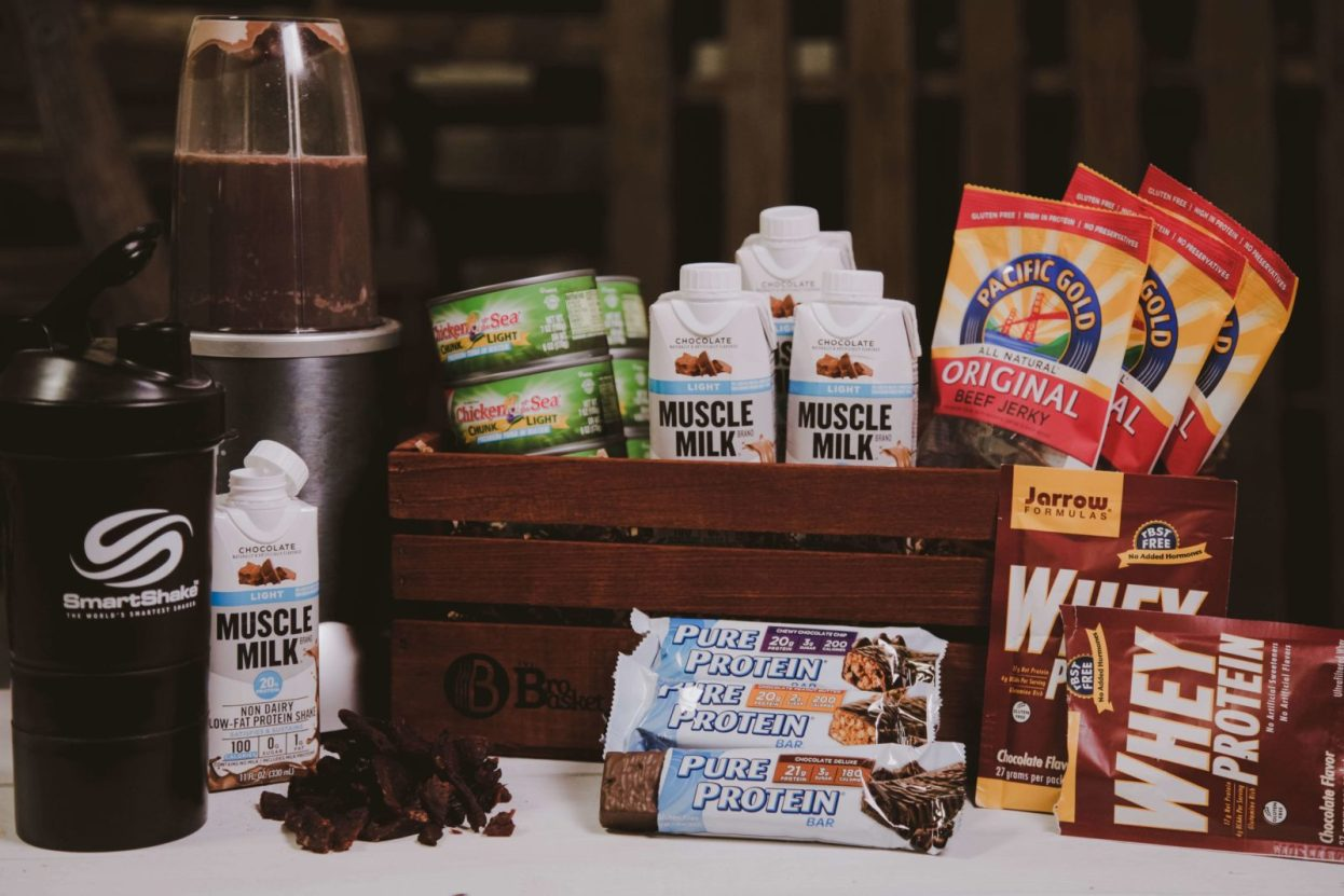 The BroBasket - Gifts for Men - Healthy Gifts - Crossfit gifts - Protein Gifts