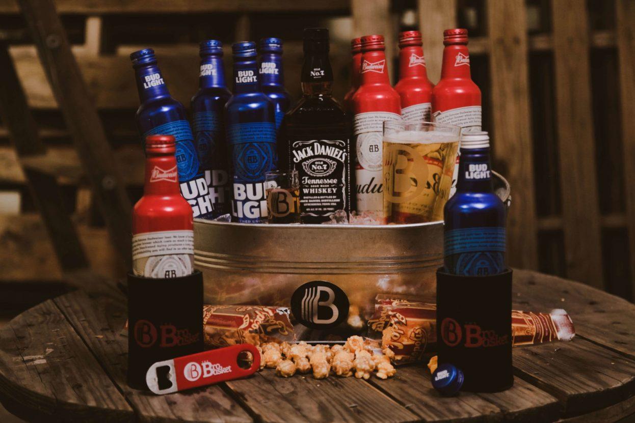The BroBasket | Gifts for men | Jack Daniels | Jack Daniels Gifts | Bud light | Bud light gifts | Budweiser | Budweiser Gifts | Boilermaker | Boilermaker gifts | Cocktail gifts