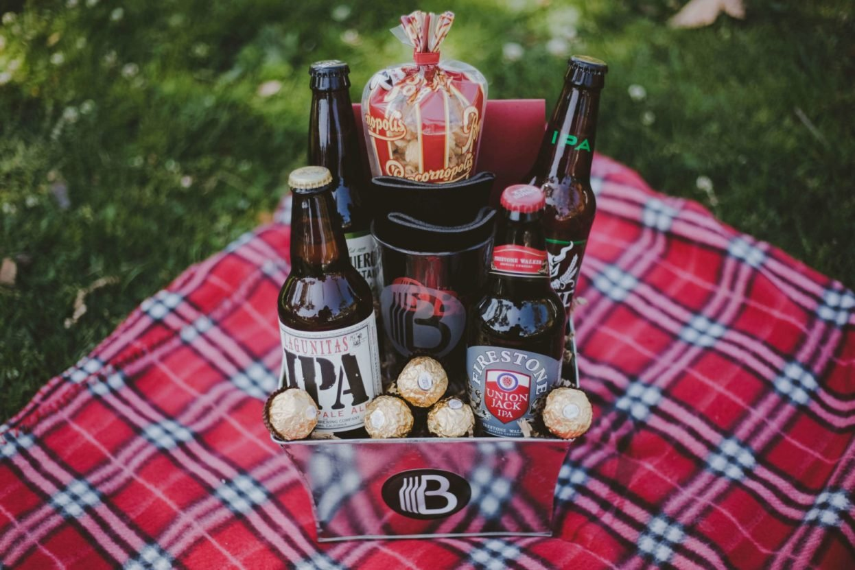 The BroBasket | Gifts for men | Beer gifts | Craft Beer Gifts | Stone IPA | Figueroa Mountain Hoppy Poppy | Laguinitas IPA | IPA Gifts