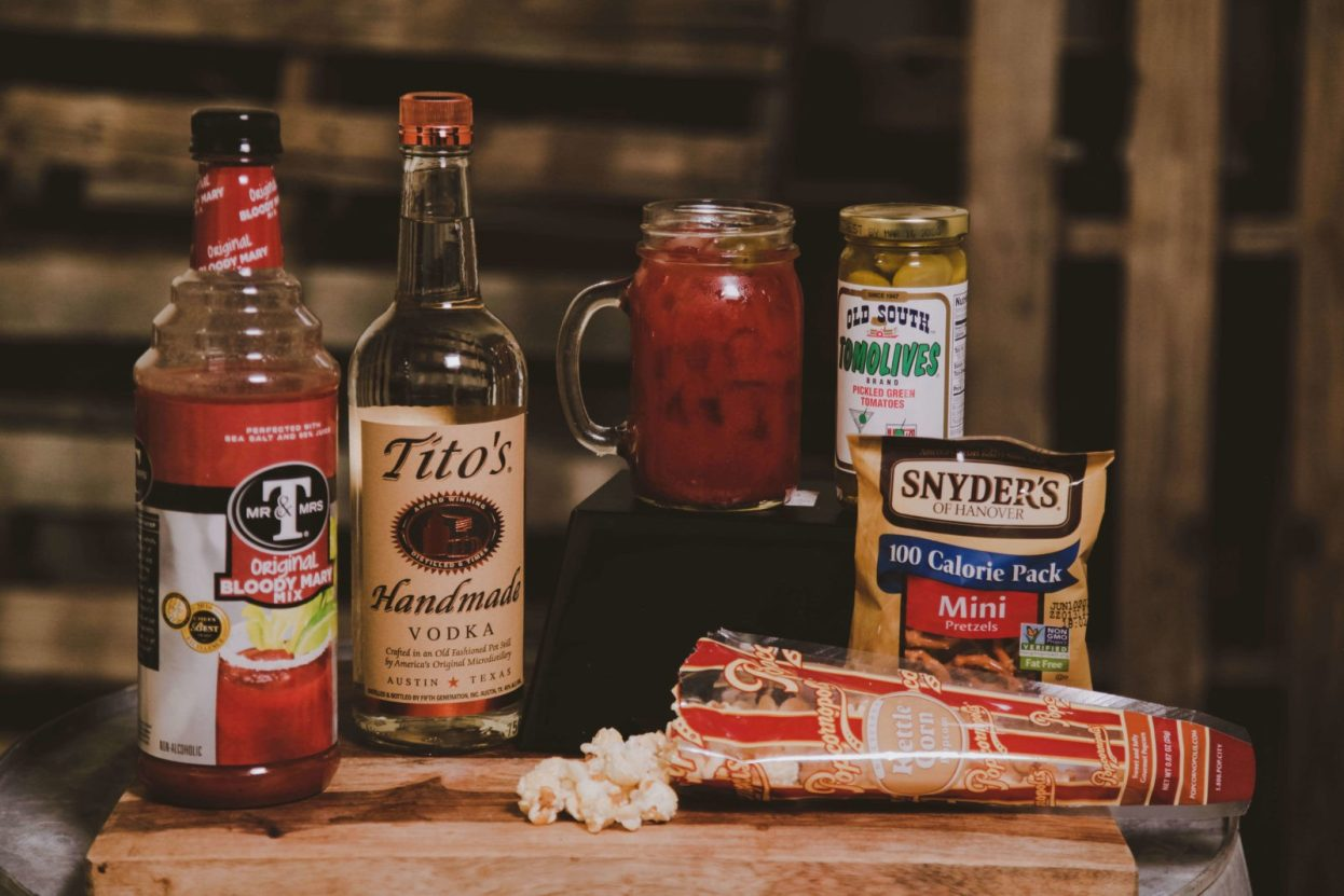 The BroBasket | Amazing Gifts for Men | Titos gifts | Titos vodka | Bloody Mary Gifts | Mr & Mrs T Bloody Mary Mix