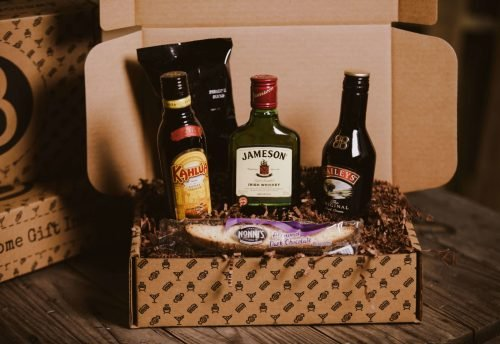 The BroBasket - Gift Baskets For Men - Jameson Gift - Baileys Gift - Kahlua Gift - Irish Coffee Gift