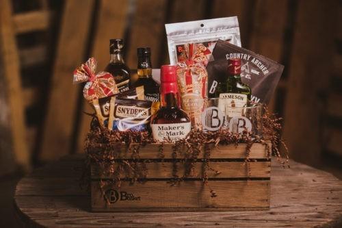 The Whiskey Lover gift basket