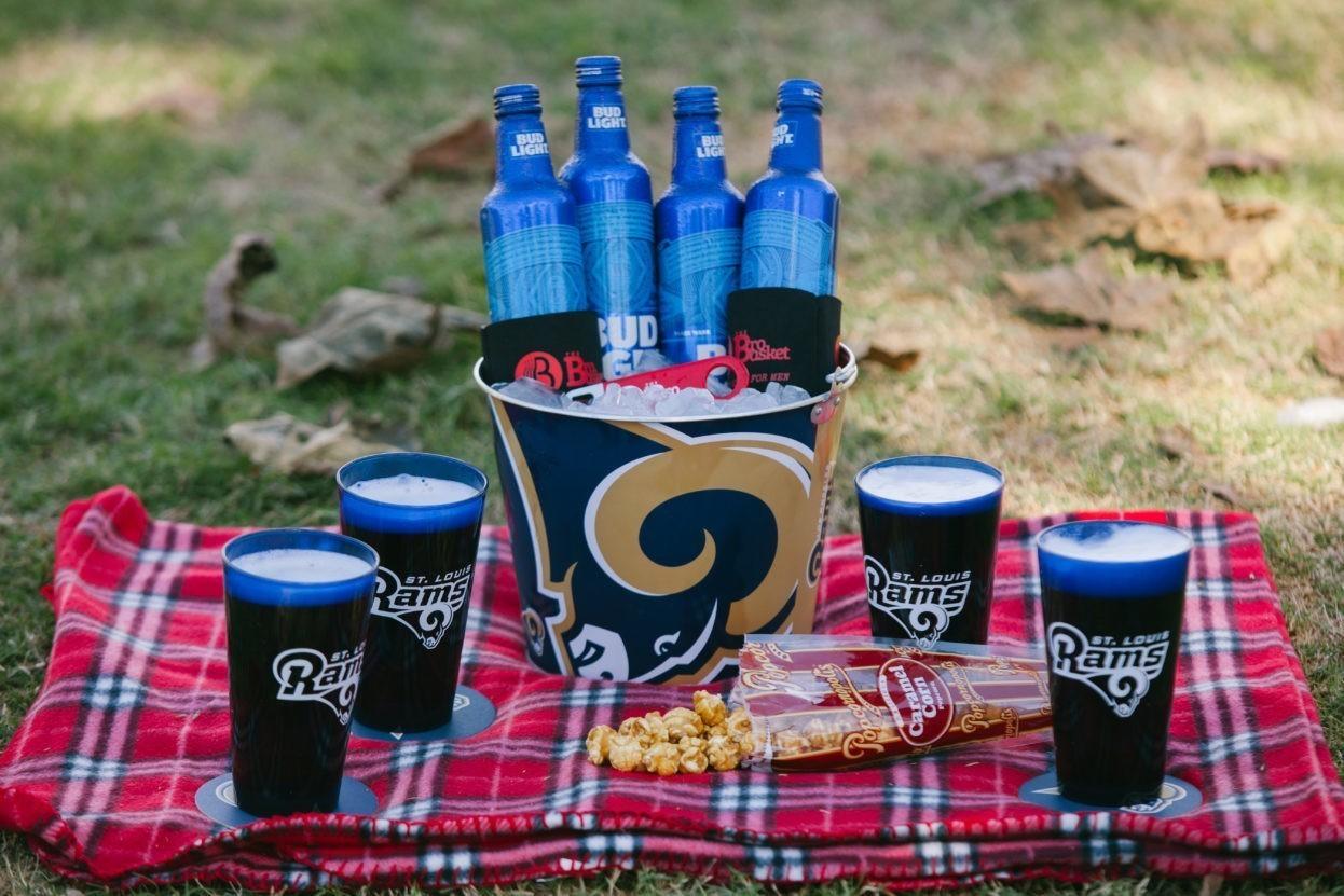 Rams Tailgate Bucket of Beer
