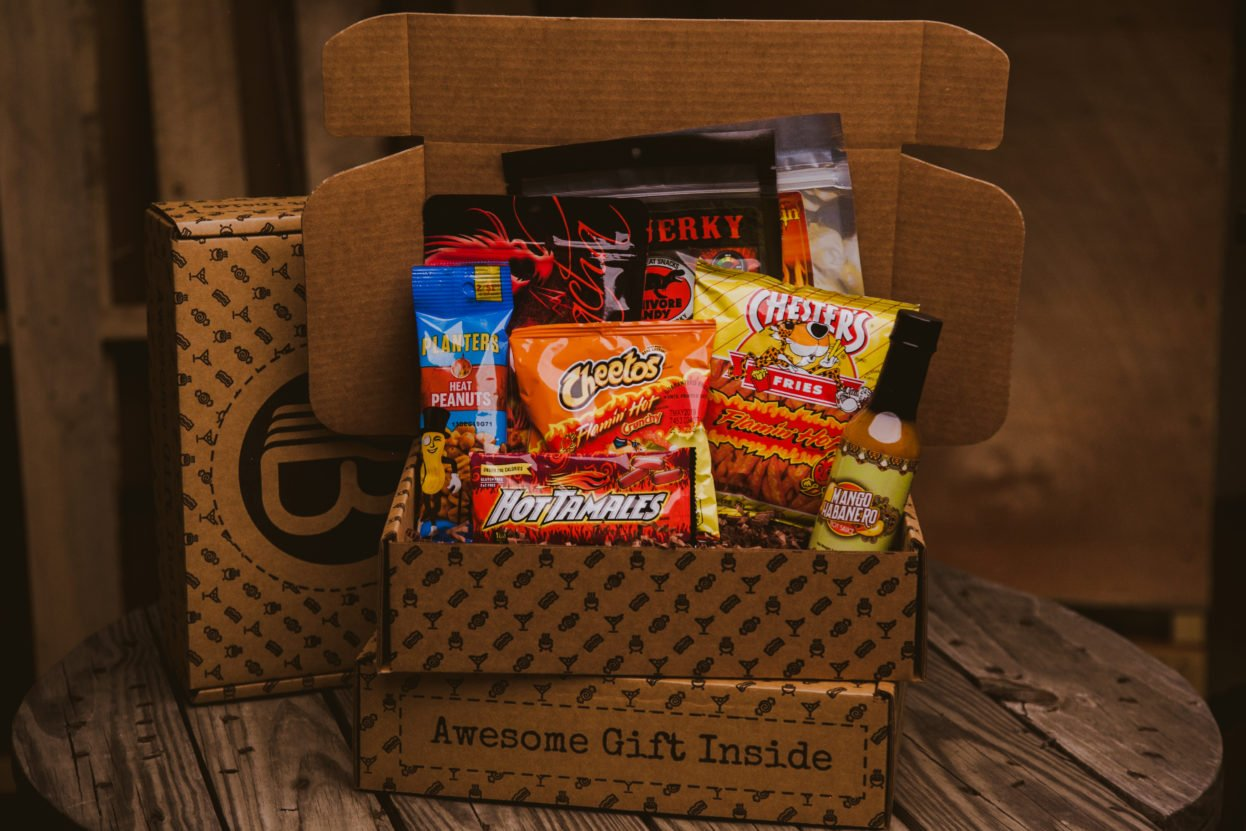 The Caliente BroBox | Hot Sauce Gifts basket from TheBroBasket